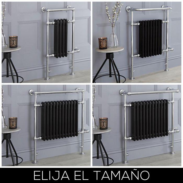 Radiador Toallero Eléctrico Tradicional Negro - Disponible en Distintas Medidas - Elizabeth