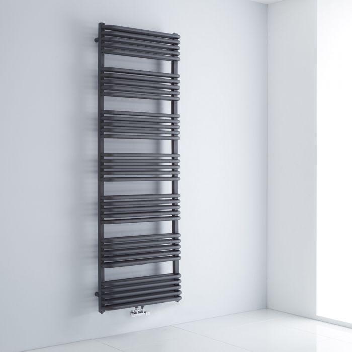 Radiador Toallero con Conexión Central  - Curvo - Antracita - 1800mm x 600mm - 2010 Vatios - Arch