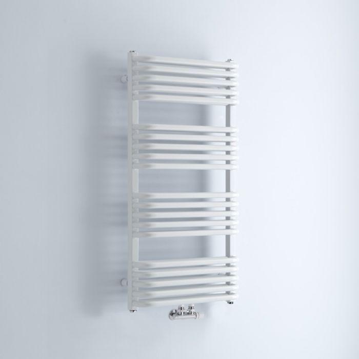 Radiador Toallero - Curvo - Blanco - 1000mm x 500mm - 986 Vatios - Arch