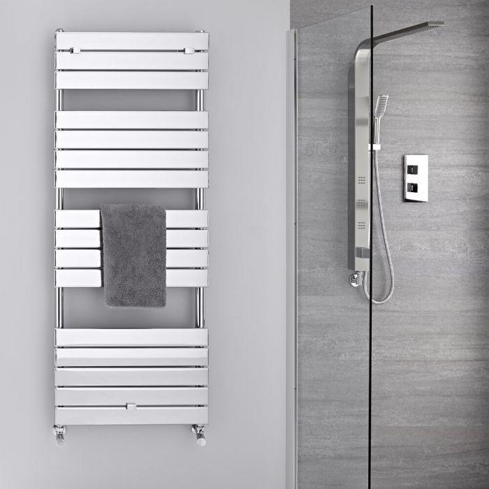 Radiador Toallero - Paneles Planos - Cromado - 1512mm x 600mm  - 666 Vatios- Lustro