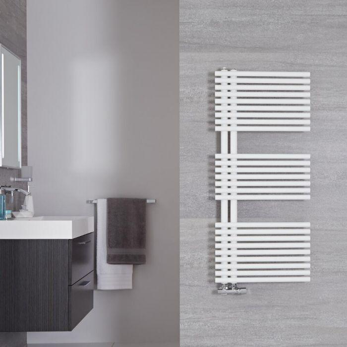 Radiador Toallero de Diseño Vertical - Color Blanco Mineral - 1120mm x 500mm - 793 Vatios - Iseo