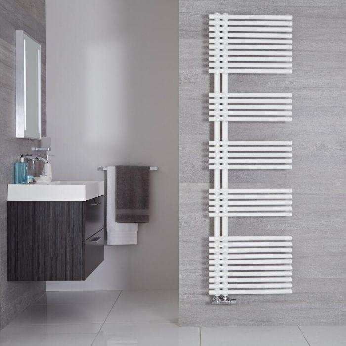 Radiador Toallero de Diseño Vertical - Color Blanco Mineral - 1700mm x 500mm - 1025 Vatios - Iseo