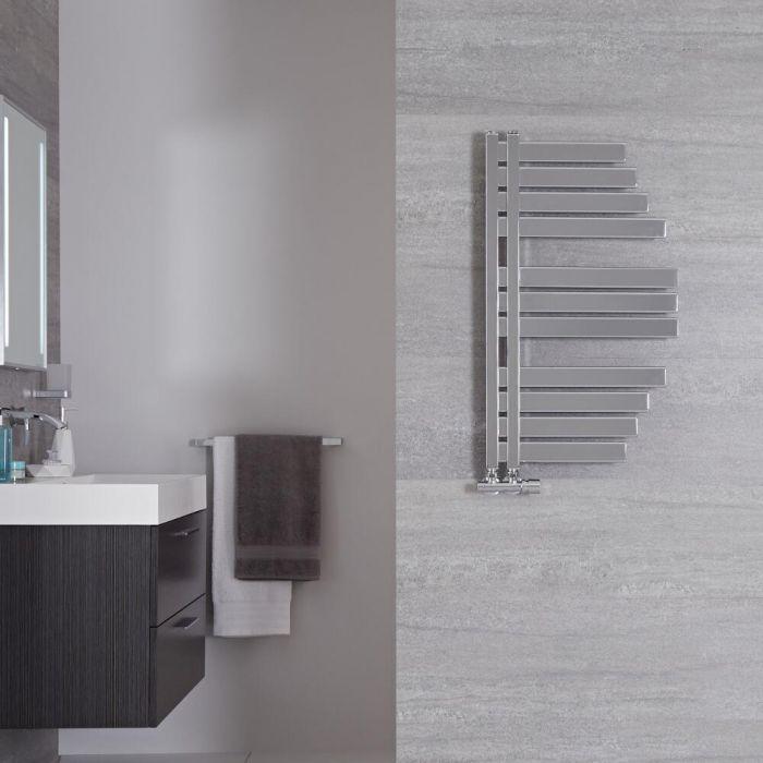 Radiador Toallero de Diseño Vertical - Cromado - 800mm x 463mm - 235 Vatios - Lazio