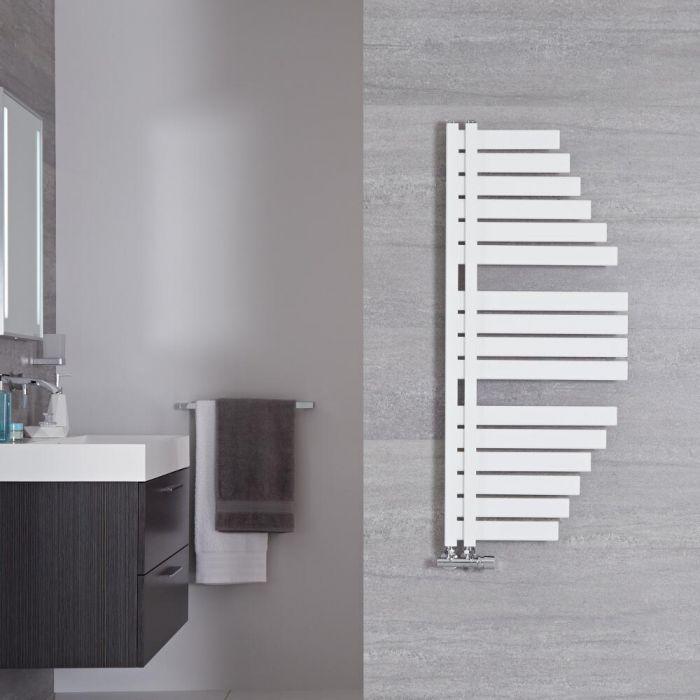 Radiador Toallero de Diseño Vertical - Color Blanco Mineral - 1100mm x 483mm - 507 Vatios - Lazio