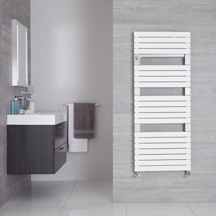 Radiador Toallero de Diseño Vertical - Blanco - 1360mm x 550mm - 896 Vatios - Seina