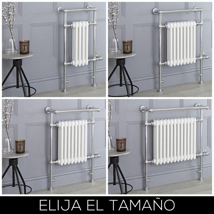Radiador Toallero Eléctrico Tradicional Blanco - Disponible en Distintas Medidas - Elizabeth
