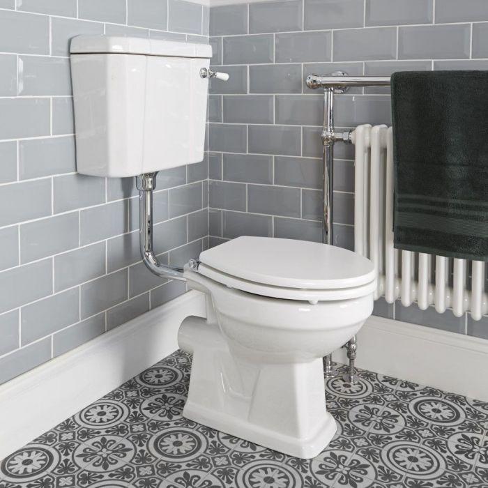 Pack de WC Tradicional con Inodoro de Salida Horizontal Cisterna y Opción de Distintas Tapas de WC - Richmond