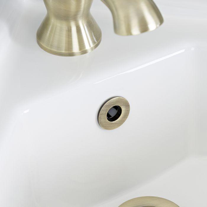 Embellecedor para Rebosadero de Lavabo Color Oro Cepillado