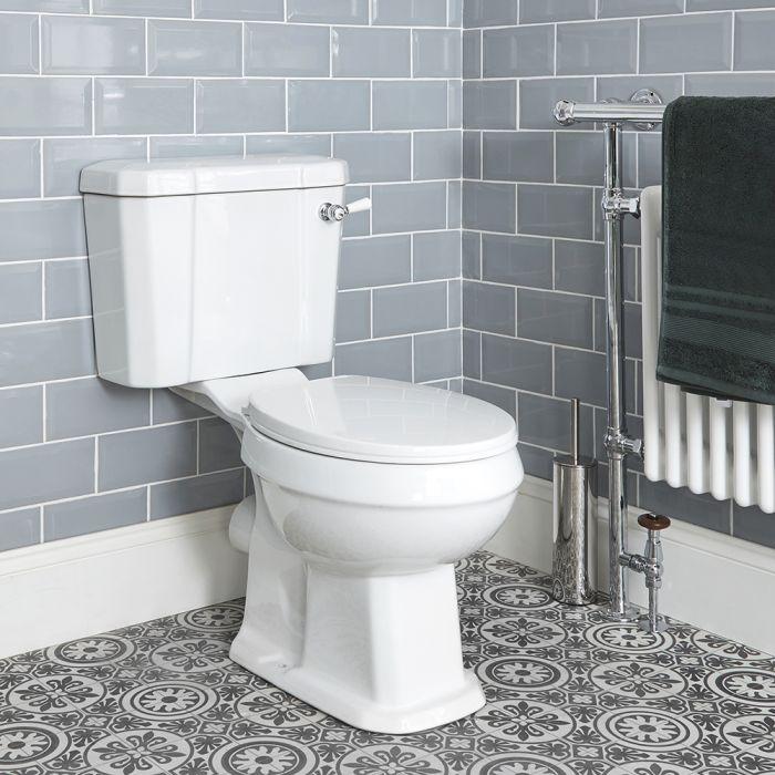 Pack de WC Completo con Inodoro Cisterna con Salida Horizontal y Tapa Tradicional - Richmond