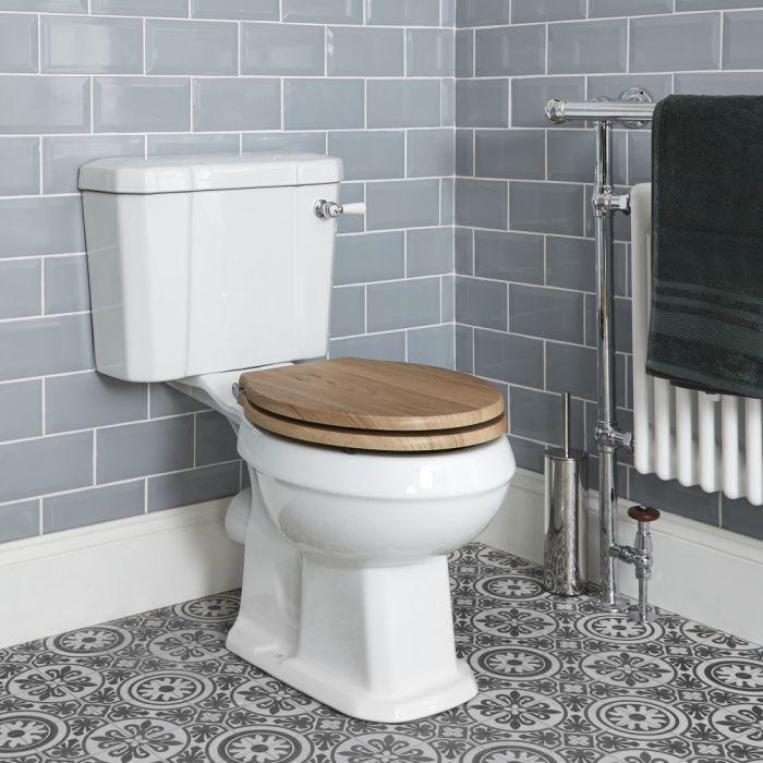 Conjunto con WC Tradicional Completo con Inodoro, Cisterna con Salida Horizontal y con Opción de Distintas Tapas de WC – Richmond