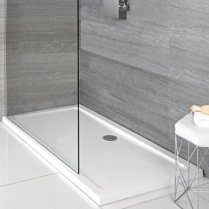 Plato de Ducha Rectangular Blanco de 900x760mm Maxon