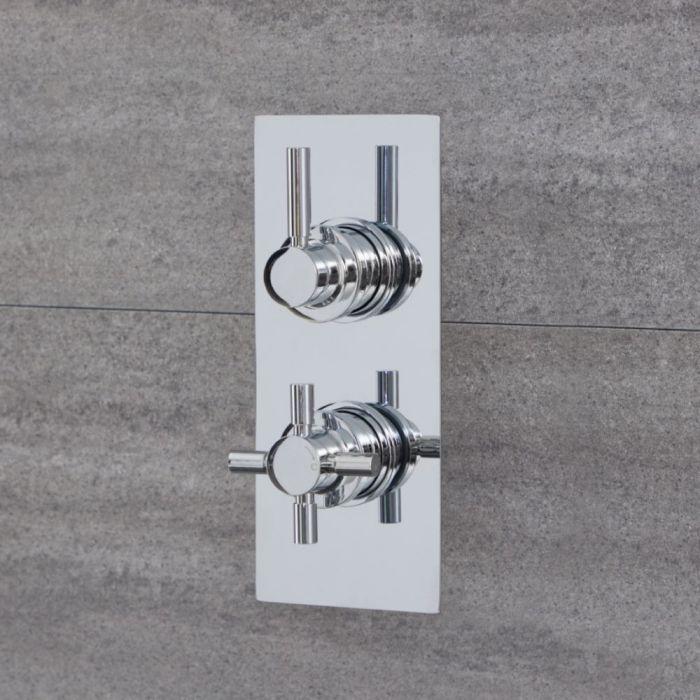 Mezclador de Ducha Termostático Moderno Redondo de 1 Salida - Cromado - Tec