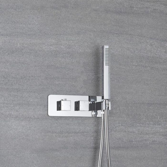 Mezclador de Ducha Empotrable de 2 Funciones con Desviador Integrado con Telefonillo- Kubix