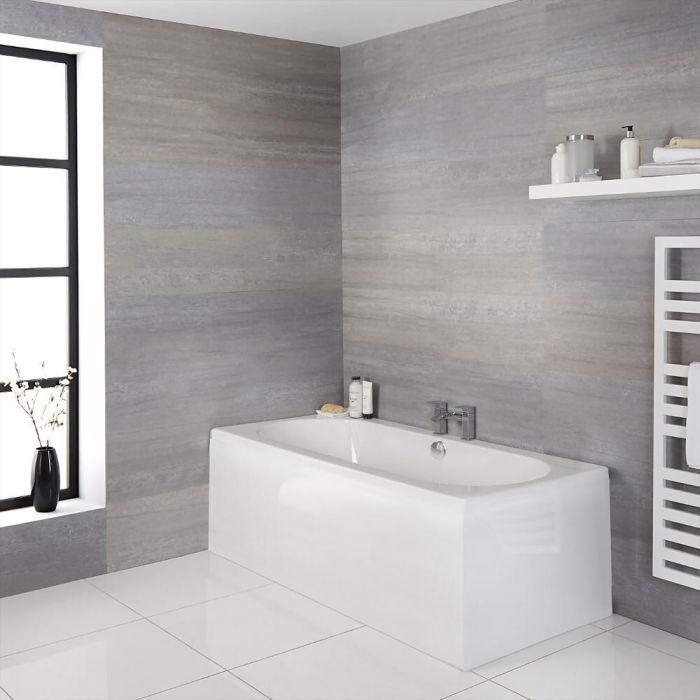Bañera con Respaldo Doble y Diseño Redondeado - Disponible en Distintas Medidas - Otterton