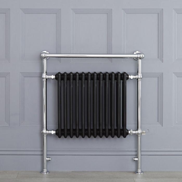 Radiador Toallero Tradicional con Elemento Eléctrico de 800 Watt - Negro - 930mm x 790mm - Elizabeth