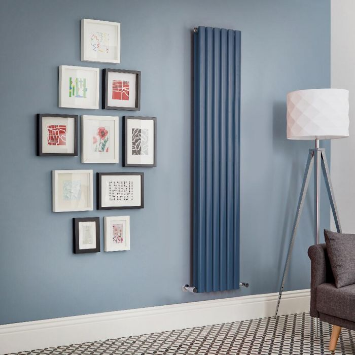 Radiador de Diseño Vertical Doble - Azul - Revive - Disponible en Distintas Medidas