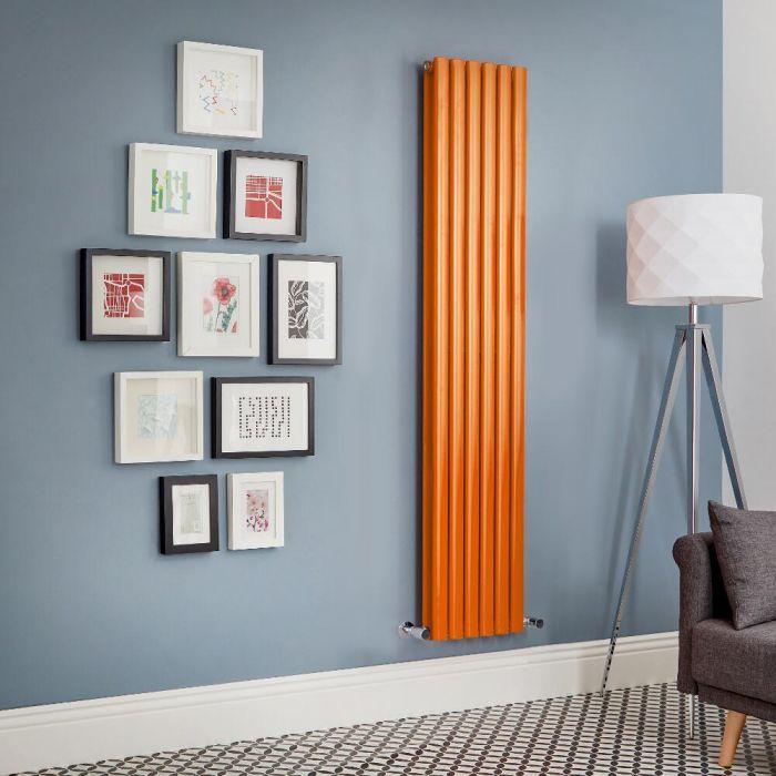 Radiador de Diseño Vertical Doble - Naranja - Revive - Disponible en Distintas Medidas
