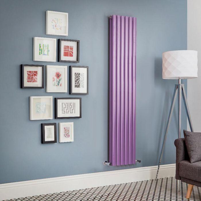 Radiador de Diseño Vertical Doble - Morado - Revive - Disponible en Distintas Medidas