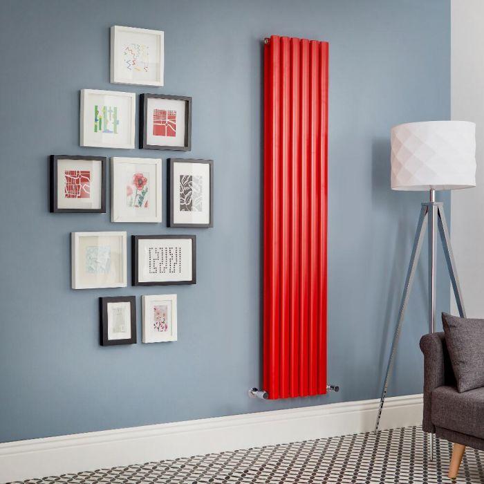 Radiador de Diseño Vertical Doble - Rojo - Revive - Disponible en Distintas Medidas