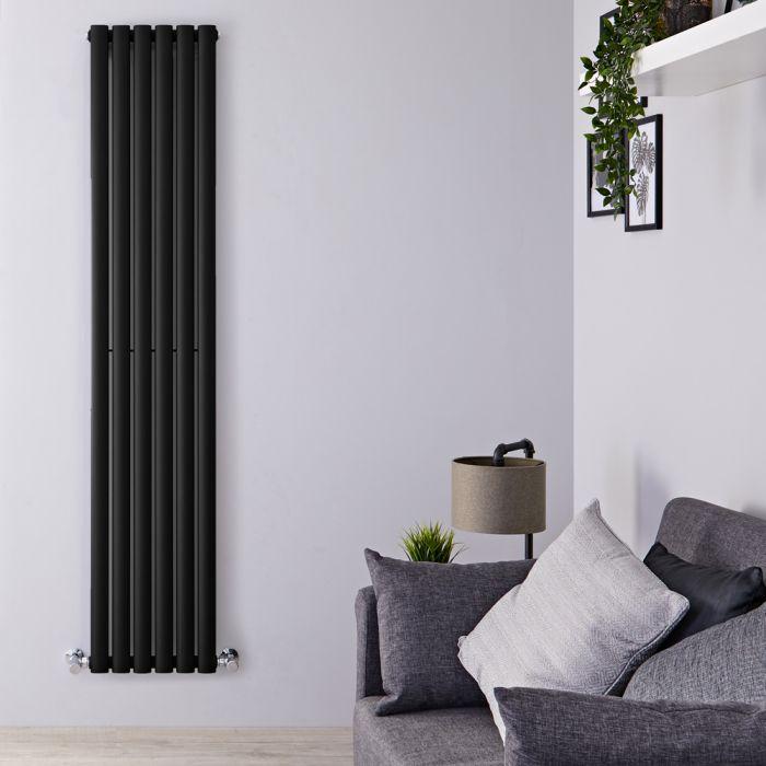 Radiador de Diseño Vertical - Negro Mate - 1780mm x 354mm x 56mm - 892 Vatios - Revive