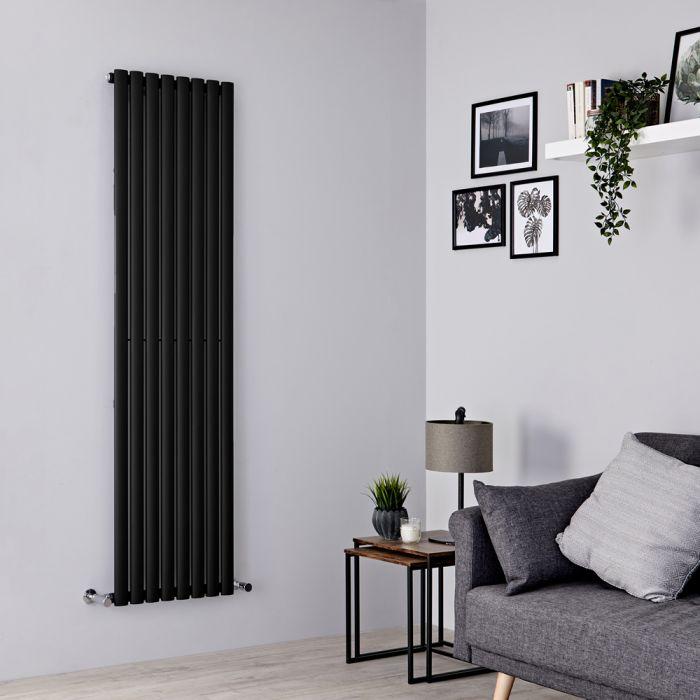 Radiador de Diseño Vertical - Negro Mate - 1780mm x 472mm x 56mm - 1189 Vatios - Revive