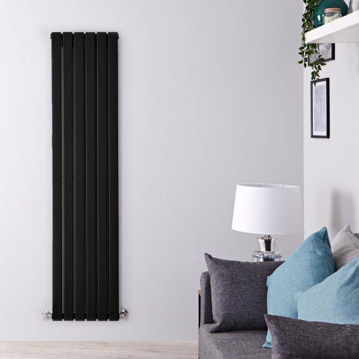 Radiador de Diseño Vertical Doble - Negro Mate  - 1780mm x 420mm x 60mm - 1484 Vatios - Delta