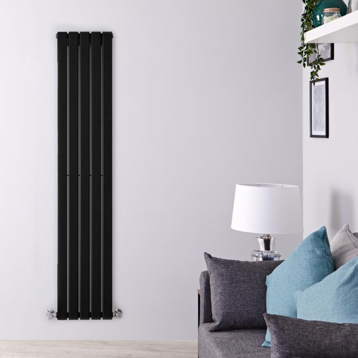 Radiador de Diseño Vertical - Negro Mate  - 1780mm x 350mm x 47mm - 822 Vatios - Delta