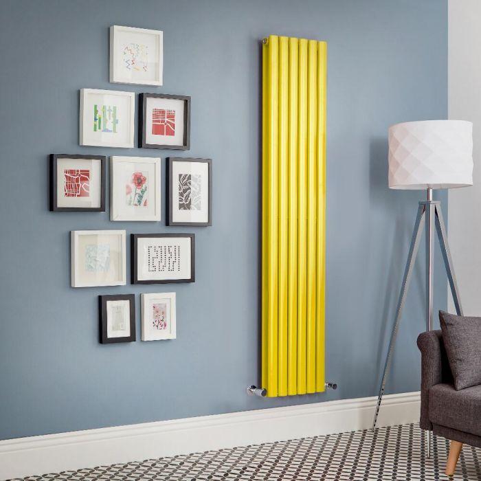 Radiador de Diseño Vertical Doble - Amarillo - Revive - Disponible en Distintas Medidas