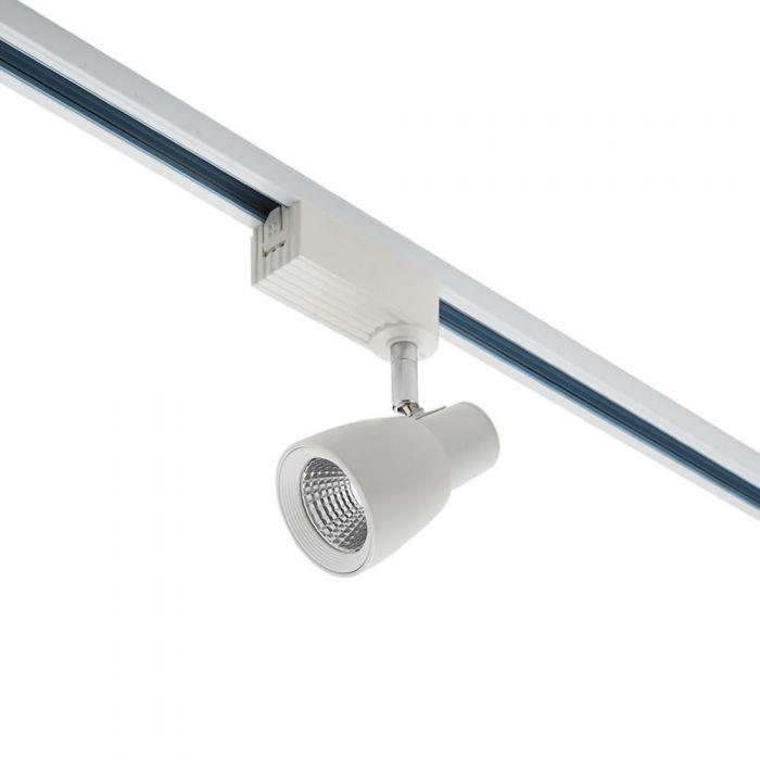 Biard Foco LED para Carril de Techo 10W para Sistemas de 1 Circuito - Blanco