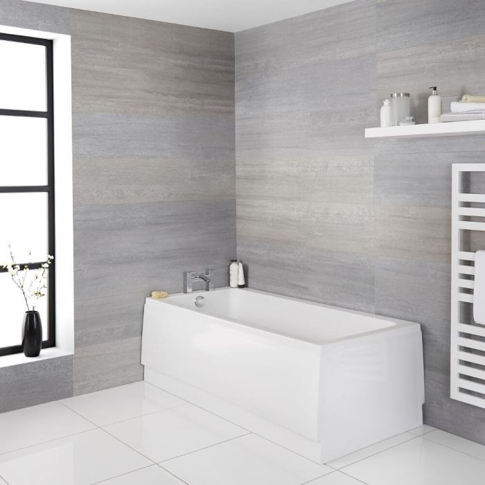 Bañera Rectangular Acrílica Retro Blanca de 1700x700mm - Richmond