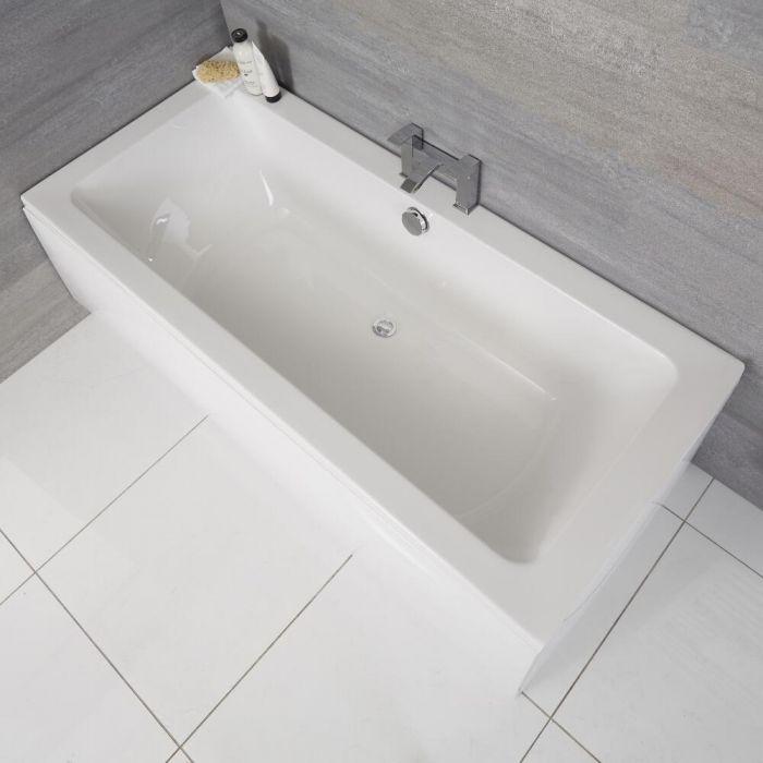 Bañera Rectangular Acrílica Moderna Blanca de 1700x700mm