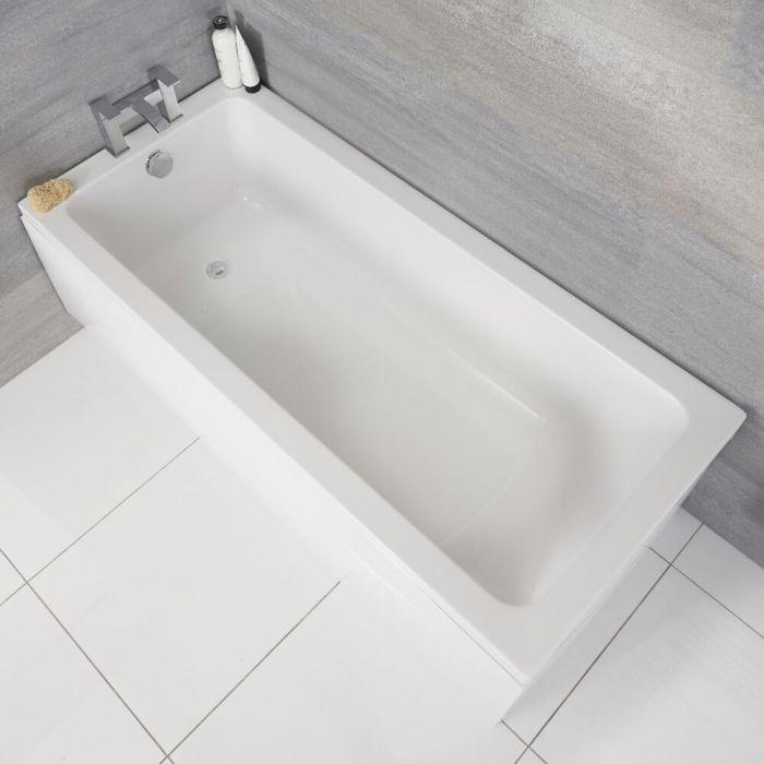 Bañera Rectangular Blanca 1600x700mm