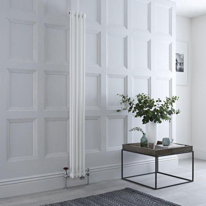 Radiador Tradicional Vertical Doble Mixto Regent - Blanco - 1500mm x 200mm - Disponible con Opción WiFi