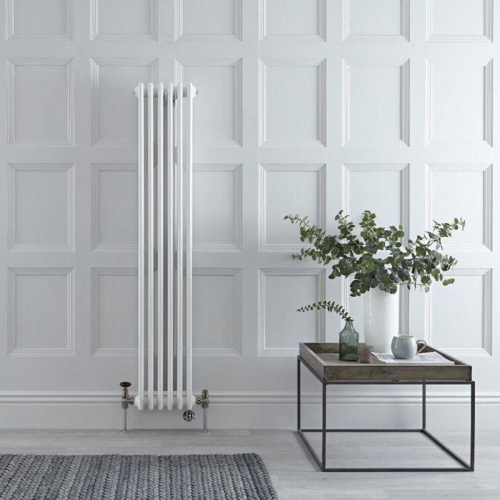 Radiador Tradicional Vertical Doble Mixto Regent - Blanco - 1500mm x 290mm - Disponible con Opción WiFi