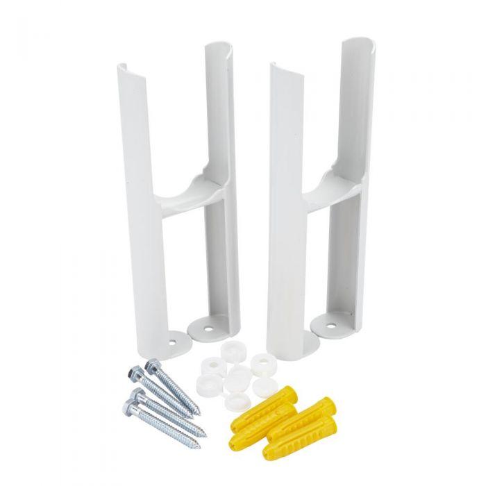 Conjunto de Soporte para Montaje a Suelo Para Radiadores Tradicionales Blancos con 2 Columnas