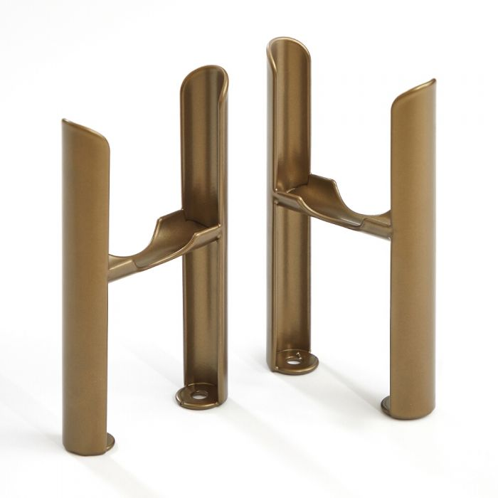 Conjunto de Soportes para Montaje a Suelo con Patas para Radiadores Tradicionales de 3 Columnas de Color Bronce Metalizado – Windsor