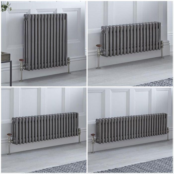 Radiador Tradicional Triple Horizontal Metal Lacado Windsor – Disponible en Distintas Medidas y con Pies