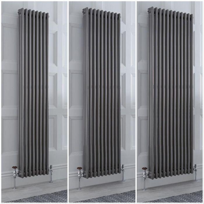 Radiador Tradicional Triple Vertical Metal Lacado Windsor de 1800mm – Disponible en Distintas Medidas y con Pies