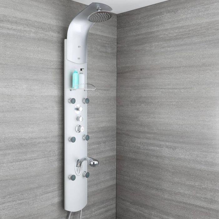 Panel de Ducha Termostático Hidromasaje Multifunción de Aluminio - Baya