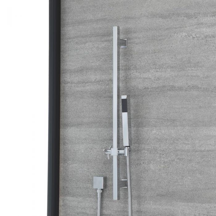 Kit de Ducha Completo con Barra Deslizante, Ducha de Mano y Codo