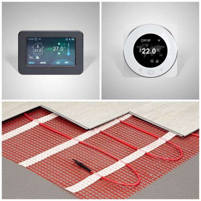 Suelo Radiante Eléctrico - Disponible en Distintos Tamaños y Termostato Wi-Fi