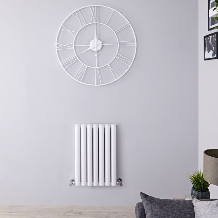 Radiador de Diseño Horizontal Doble - Blanco - 600mm x 415mm x 78mm - 548 Vatios - Revive