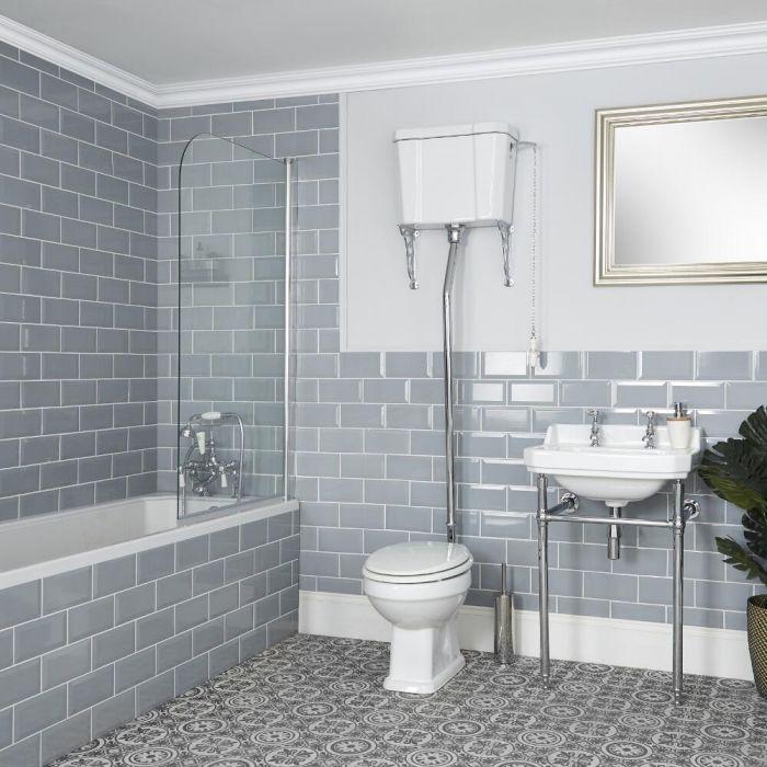 Conjunto de Baño Tradicional Completo con Inodoro, Cisterna Alta y Consola - Richmond