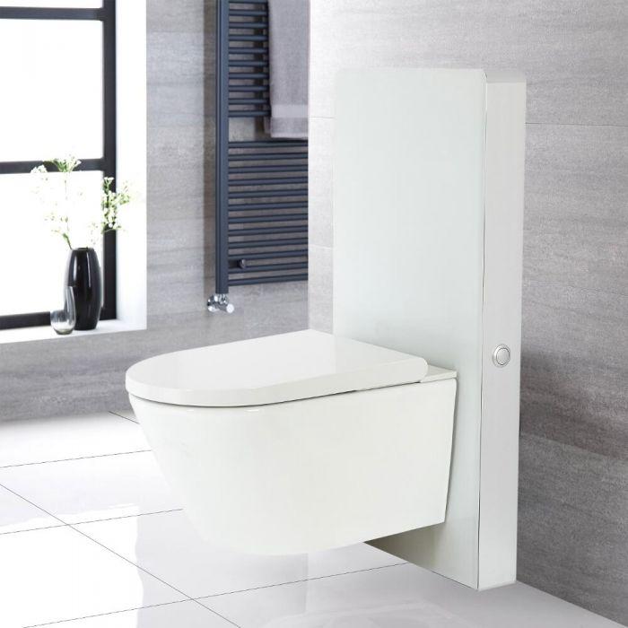 Kit para Inodoro Blanco de 500mm Completo con Inodoro WC Japonés Inodoro-Bidé Inteligente - Saru