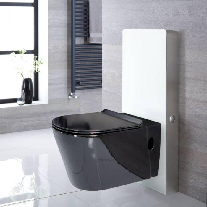 Conjunto de WC Completo con Kit para Inodoro Blanco de 500mm e Inodoro de  340x350x560mm - Nox
