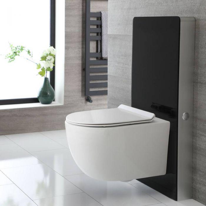 Conjunto de WC Completo con Kit para Inodoro Negro de 500mm e Inodoro sin Brida Otterton - Saru