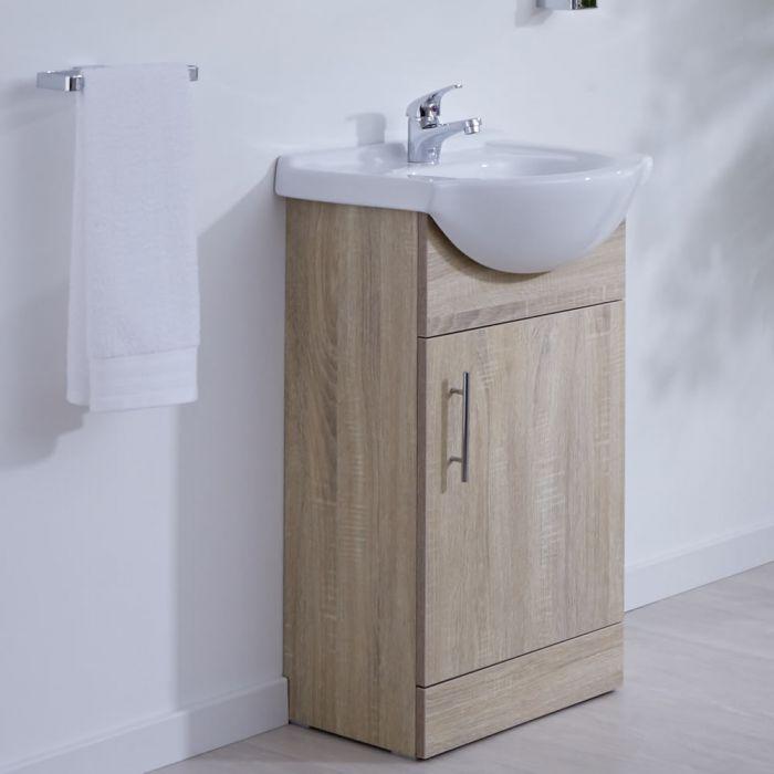 Mueble de Lavabo Efecto Roble 44x83,5x45cm - Classic Oak