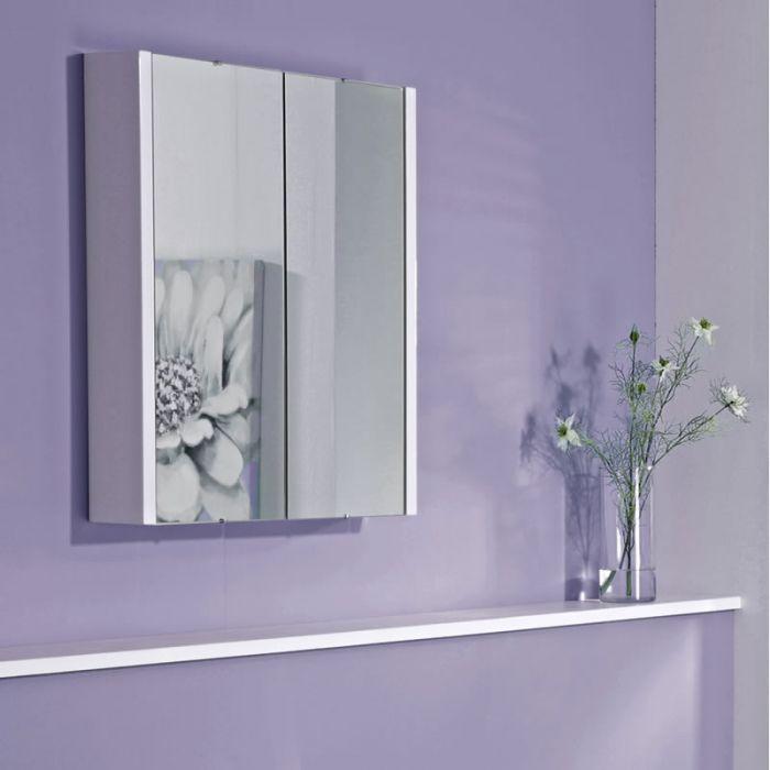 Armario de Baño con Espejo Doble y Tres Repisas 650mm x 617mm