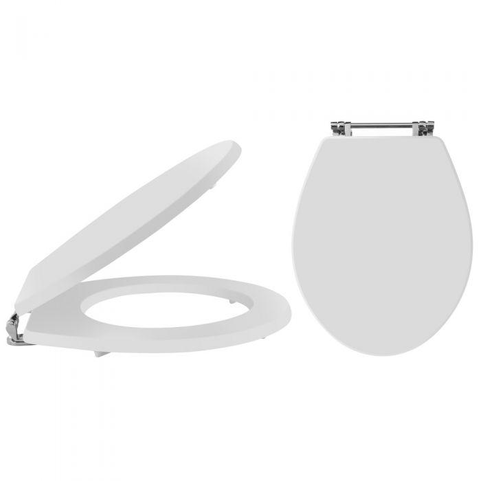 Tapa y Asiento para WC con Cierre Amortiguado Color Blanco - Richmond