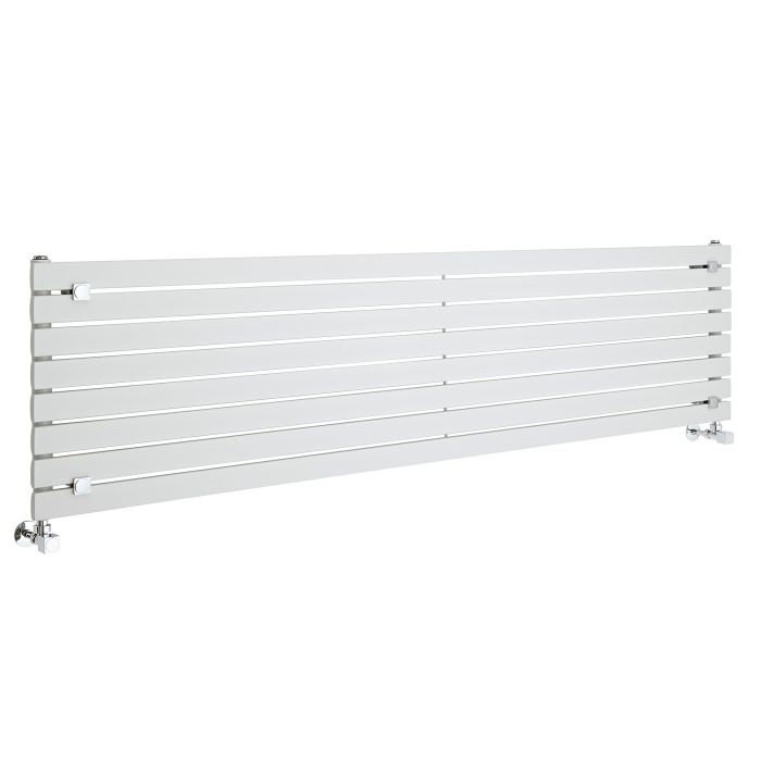 Radiador de Diseño Horizontal - Blanco - 472mm x 1780mm x 54mm - 1144 Vatios - Sloane